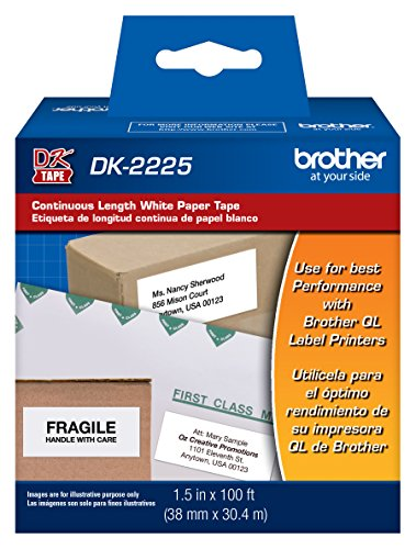 Brother Printer Continuous Length White Paper Tape (DK2225)
