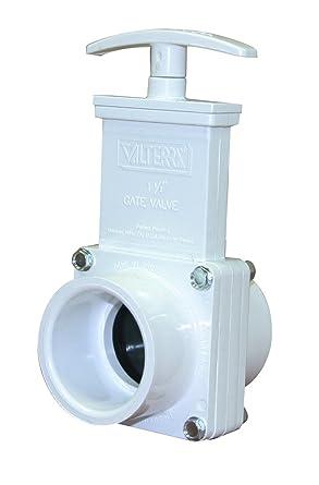 Valterra 6101 PVC Gate Valve 1-1//2 Slip White