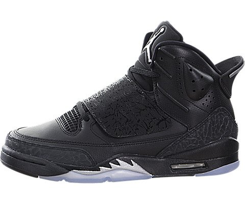 Jordan Son of BG Youth Basketball Shoes (5.5 M US, Black/Metallic Silver-Anthracite)