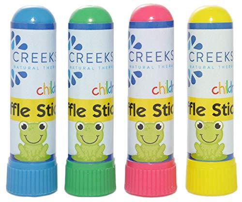 (Sniffle Sticks Nasal Inhaler for Children (4 Pack) • Essential Oil Blend • Aromatherapy)