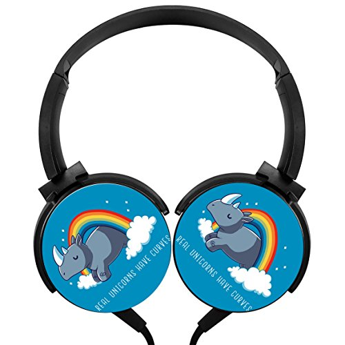 - MagicQ Real Unicorns Have Curves Stereo Deep Bass Wired Headphones Earphones