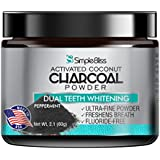 Activated Charcoal Teeth Whitening 60g - All Natural Charcoal Toothpaste Powder - Effective Whitener Non-Abrasive and Safe on Enamel - Removes Teeth Stains to Restore Your Best Smile