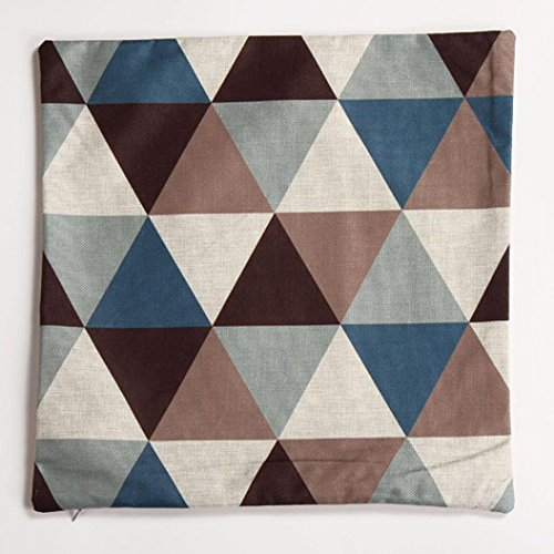 Pillow Case,JUNKE New geometric cushion covers decorative pillows cushions home decor (Blue)