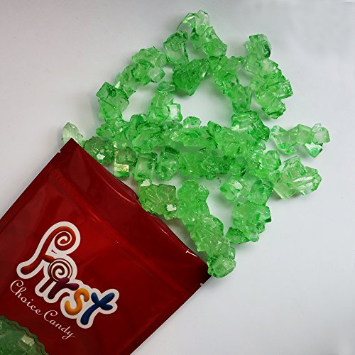 FirstChoiceCandy Green Lime Rock Candy Strings 1.5 Pound Resealable Bag ()
