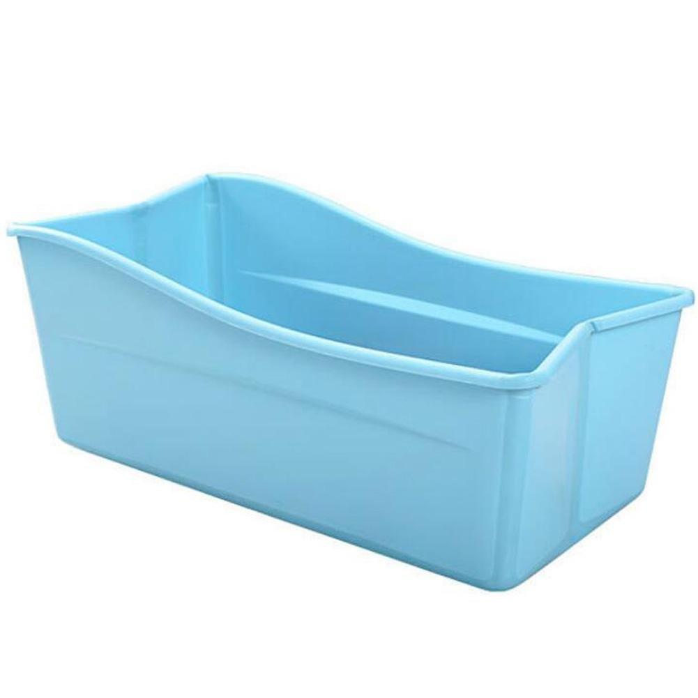 YUGDSIMB Oversized Baby Tub Can Be Folded , Blue