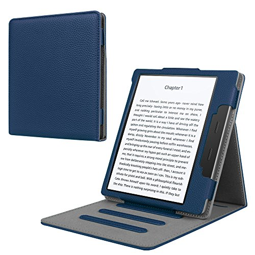 Fintie Stand Case for Kindle Oasis (9th Generation, 2017 Release ONLY) - Multi Angle Hands-free Viewing Flip Cover with Auto Sleep / Wake for Amazon All-New 7