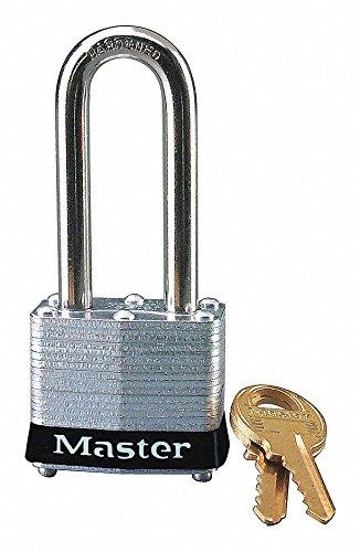 - 1- MASTER LOCK 3KALHBLK Black Lockout Padlock, Keyed Alike, Laminated Steel Body Material