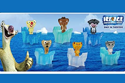 Amazon Com Mcdonalds 2012 Ice Age Continental Drift Complete Set Other Products Everything Else