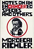 Notes on an Endangered Species and Others, Mordecai Richler, 0394489691