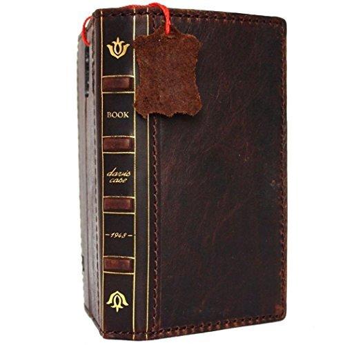 Vintage Purses Ebay - Genuine Vintage Leather Case for Samsung Galaxy S6 Active Book Wallet bible cover slim Hand made Retro brown cards slots DavisCase
