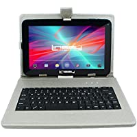 LINSAY NEW F10XHDBDS, Quad Core, 1GB RAM DDR3 8GB Android 4.4 Kit Kat with Silver Keyboard Bundle Deluxe