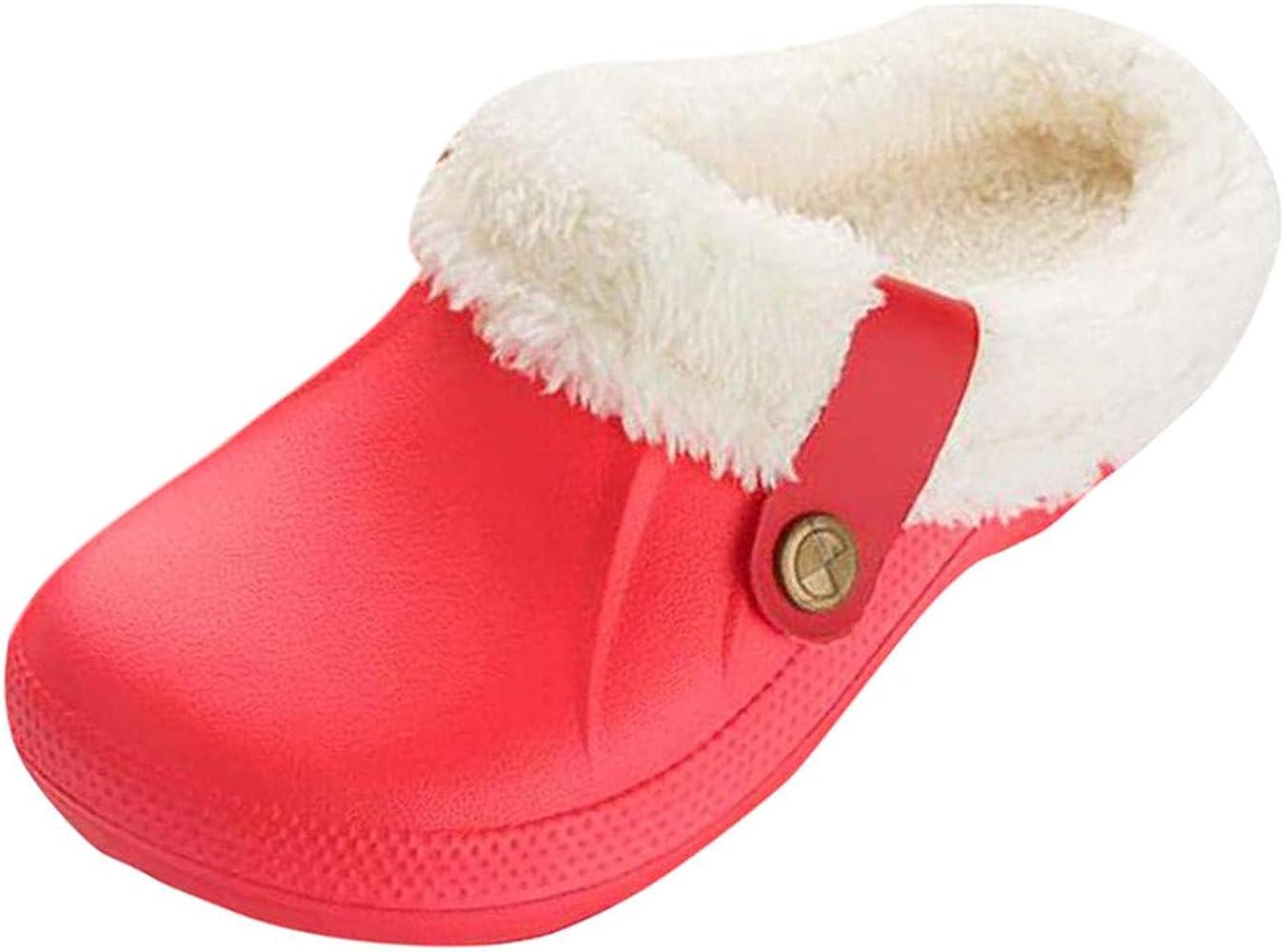 Dorical Zuecos cálido mujeres hombres de jardín tobillos Pantuflas Zuecos Hombres Mujer Unisex Zapatillas de forro cálido zapatos de jardín para interiores y exteriores impermeables: Amazon.es: Ropa y accesorios