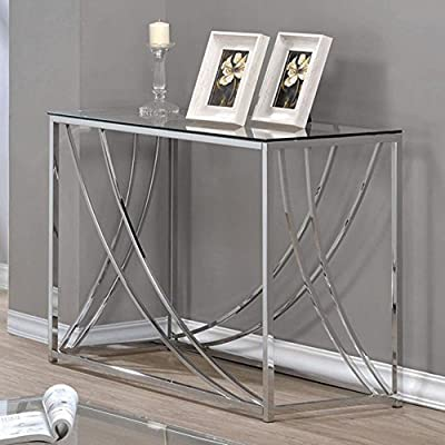 Coaster Furniture Contemporary Glass Top Console Table