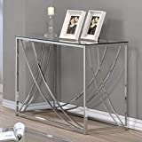 Coaster Home Furnishings Glass Top Sofa Table in Chrome