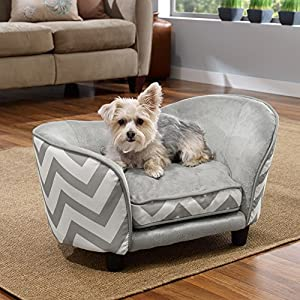 Enchanted Home Pet Snuggle Pet Sofa Bed, 26.5 by 16 by 16-Inch, Gray 60