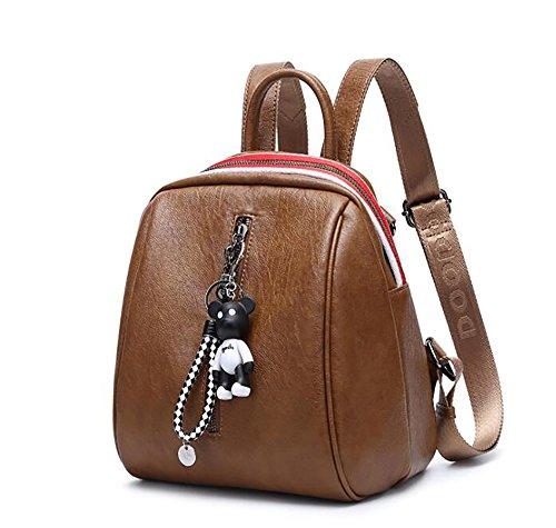 sac mode la PU 24 sac dos des 26cm femmes souple à décontracté main Sac de en 7 cuir multifonctionnel à SEqfOO