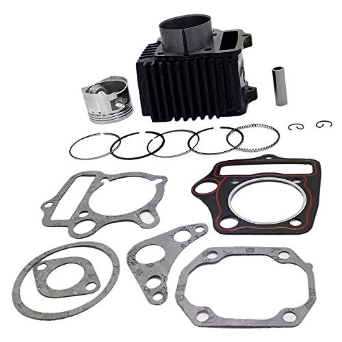 KDSG 52mm Complete Cylinder Kit Piston Rings Set for 110cc 4 Stroke Engine ATV UTV Moped Quad Dirt Bike Go Kart Scooter Honda Taotao Kazuma Redcat