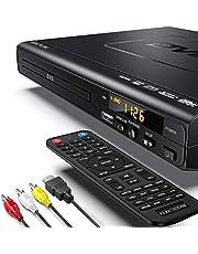 ELECTCOM DVD-speler - DVD-speler met HDMI-kabel voor tv, multi-regio dvd-speler USB, dvd-spelers voor tv met afstandsbediening, cd-speler