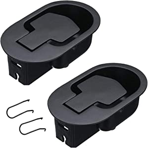 uyoyous 2PCS Reliable Recliner Replacement Parts Aluminum Metal Pull Recliner Replacement Parts Handle for Sofa Couch Recliner Fit 3-6MM Cables Black