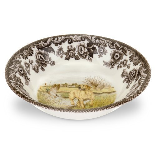 Spode Woodland Hunting Dogs Ascot Cereal Bowl with Yellow Labrador Retriever by Spode ()
