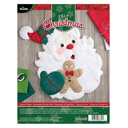 Bucilla 86739 Felt Applique Wall Hanging Kit Santa's Treats, Size 18.5 x 24-Inch, 18.5