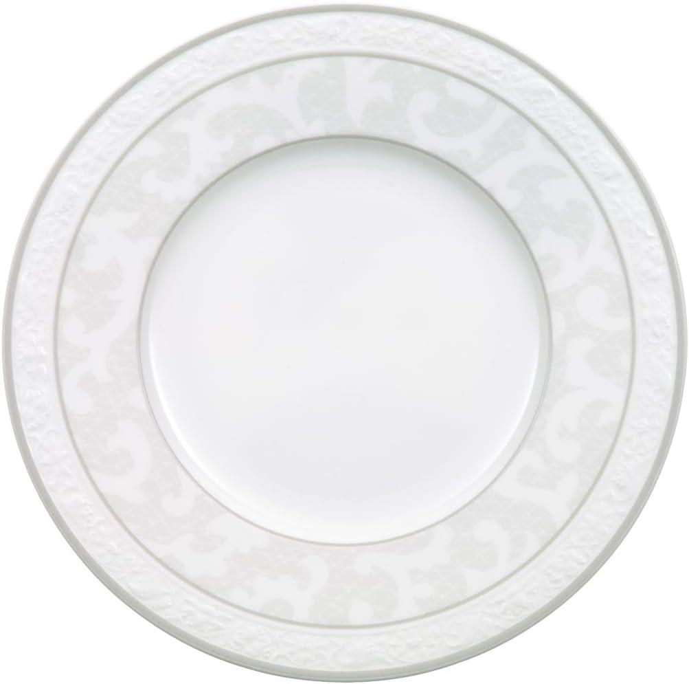 Villeroy /& Boch 10-4392-2630 Assiette Plate Porcelaine Gris 29,2 x 29,2 x 8,5 cm 1 Assiette