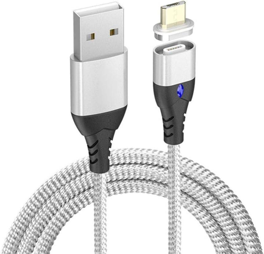 Luckiests Carga USB Tipo C 8 Pin Imán reemplazo magnética Línea de Cable Micro Fast Adaptador de Cargador para el/iPad/Xiaomi/Huawei/Samsung