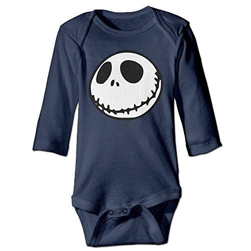 Unisex Nightmare Before Christmas Jack Skellington Baby Onesie Infant Bodysuit]()