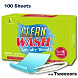 Tonelife 100 Sheets Scented Nano Technology Super Condensed Laundry Detergent Sheets 4-in-1 Laundry Pacs: Detergent, Stain Remover,Brightener.100 load Laundry Revolution