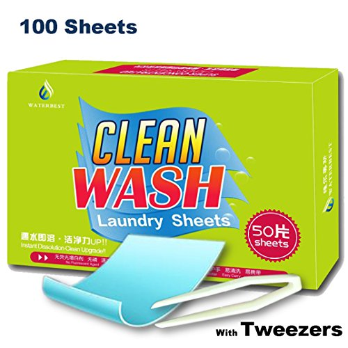 Tonelife 100 Sheets Scented Nano Technology Super Condensed Laundry Detergent Sheets 4-in-1 Laundry Pacs: Detergent, Stain Remover,Brightener.100 load Laundry Revolution by Tonelife (Image #1)