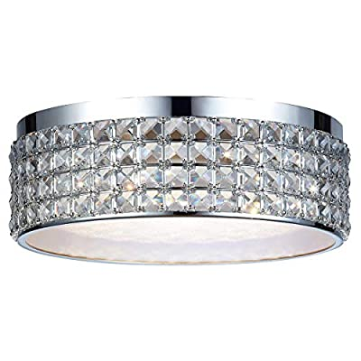 DSI Lighting Callisto Crystal Ceiling LED Flush Mount Dimmable Light Fixture