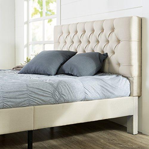 Zinus Upholstered Modern Classic Tufted Platform Bed, King