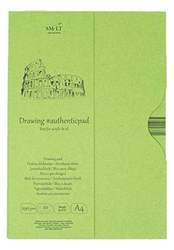 SMLT EA/OA Authentic Line A4Sketch Pad Authenticpad 290GSM Natural Rough Natural Paper 20Sheets