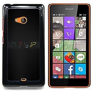 Pokemns Caja protectora de pl??stico duro Dise?¡Àado King Case For Microsoft Nokia Lumia 540 N540