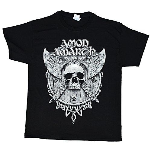 Amon Amarth - Grey Skull - black t-shirt, Size: Small, Color: Black