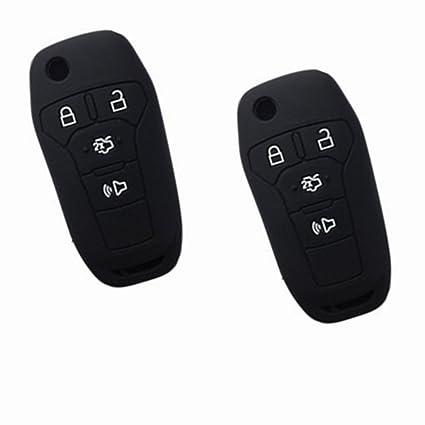 Pcs Black Key Cover For  Ford Fusion Ford Explorer Ford Edge Flip Keyless Entry Fob