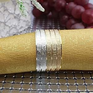 X7 Set of 4 Pieces Multi-color Metal Iron Round Napkin Rings