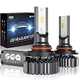 9005/HB3 LED High Beam Headlight Bulbs Conversion Kit, DOT Approved, SEALIGHT S1 Series 9145/H10 Fog Light Bulbs - Xenon White 6000K