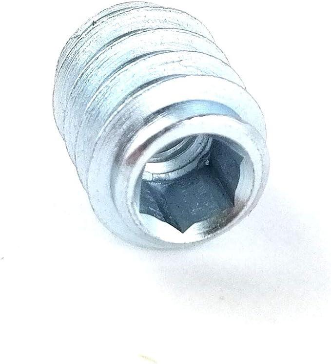 20x Einschraubmuttern Gewindemuffen Innensechskant Senkkopf M6 10x13