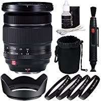 Fujifilm XF 16-55mm f/2.8 R LM WR Lens + 77mm +1 +2 +4 +10 Close-Up Macro Filter Set with Pouch Bundle 4