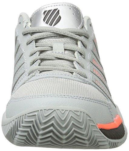 K-Swiss Performance Express Ltr, Zapatillas de Tenis para Hombre Gris (Highrise/black/neon Blaze)
