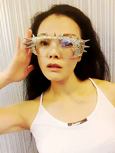 The Personalized Rhinestone Rivets Singer Stage Party Glasses,Custom - Singer Sunglasses