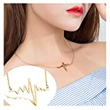 palettei ECG Clavicle Necklace - Stethoscope