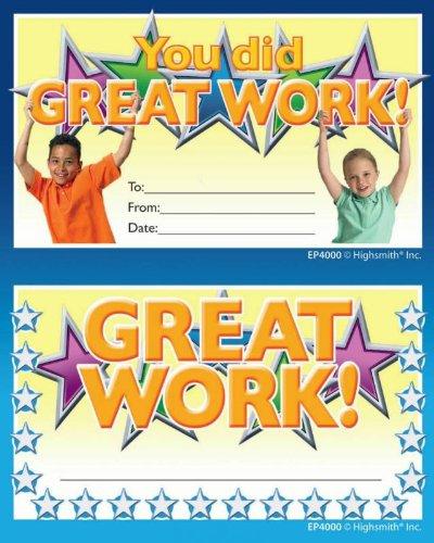 Great Work Punch Card Award