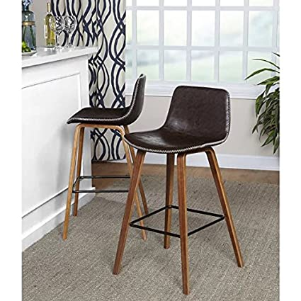 d7091cc2594f0 Image Unavailable. Image not available for. Color  Simple Living Wapoli Mid-Century  Bar Stool (Set of 2)