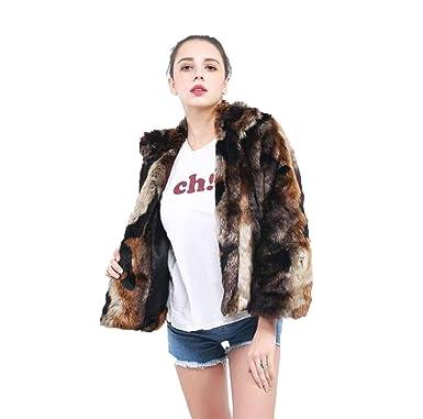 47ffa8e12c WJ Winter Warm Faux Fur Coat Women Party Clothing Evening Multicolor Faux  Fur Jacket Shaggy Fluffy