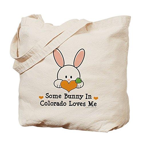 CafePress - Some Bunny In Colorado Loves Me - Natural Canvas Tote Bag, Cloth Shopping - Denver Colorado Shopping