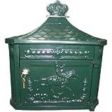 Wandbriefkasten Antik Jugendstil Grün Briefkasten Postkasten Mod2