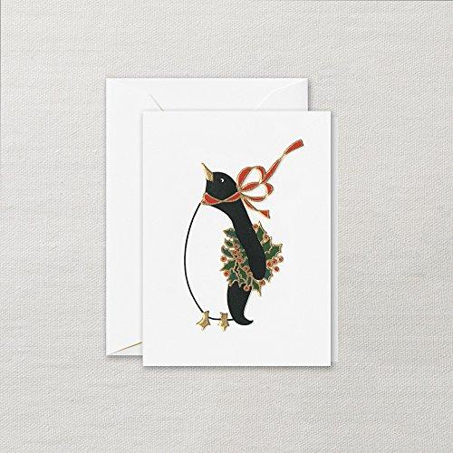 (Crane Engraved Festive Penguins Gift Enclosure Card, Set of 16 Enclosures )
