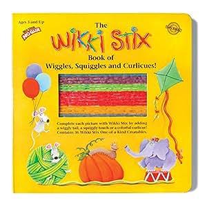 La Wikki Stix–Libro de Wiggles,, color rosa y Curlicues